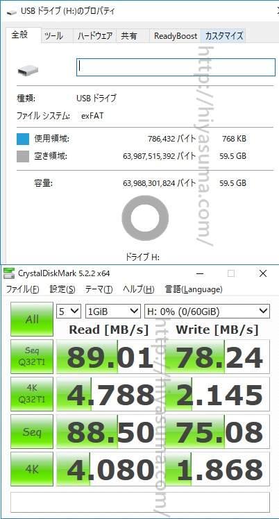SAMSUNG MB-SG64E/FFPのベンチマーク結果
